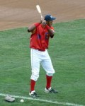 Brooklyn Cyclones outfielder Eudy Pina takes some practice swings