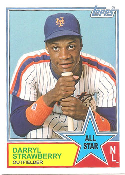 2013 Topps Archives 1983 All-Stars Darryl Strawberry #83-DS