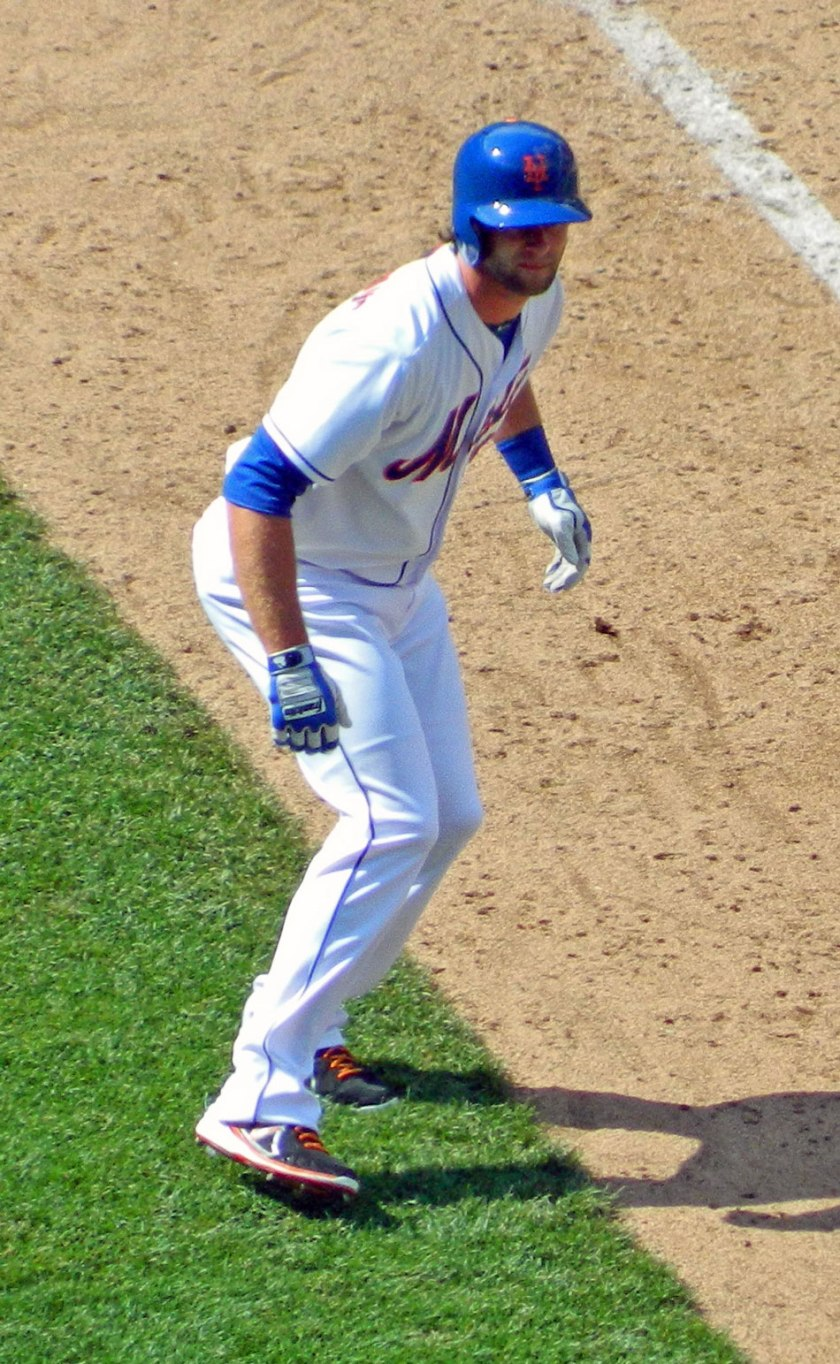 Kirk Nieuwenhuis, seen here taking a lead off third base in Saturday's game, got to be the hero on Father's Day with a walk-off home run (Photo credit: Paul Hadsall)