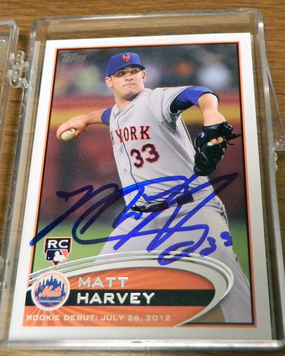 Autographed Matt Harvey baseball card from my collection