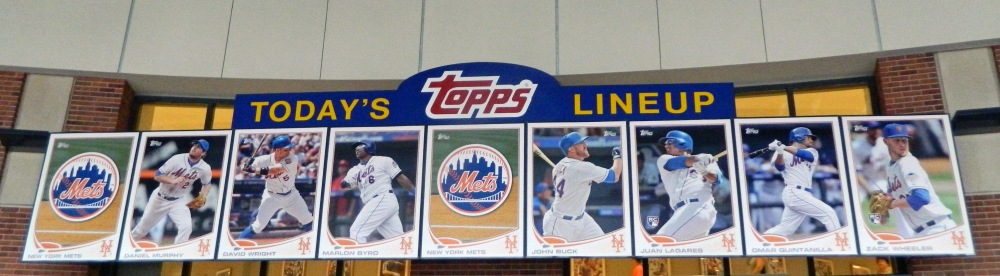 Today's Topps Lineup for June 30, 2013 (Photo credit: Paul Hadsall)