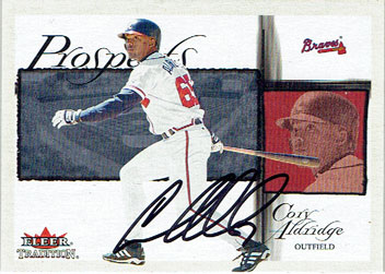 Autographed Cory Aldridge 2002 Fleer Tradition baseball card (from my collection)