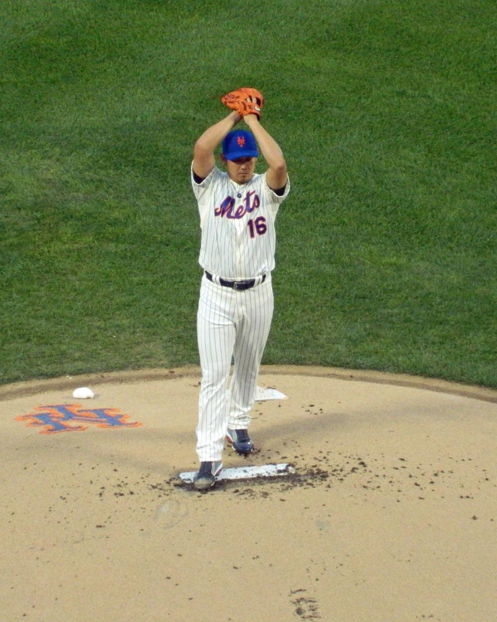 Daisuke Matsuzaka makes his Mets debut on Aug. 23, 2013 (Photo credit: Paul Hadsall)