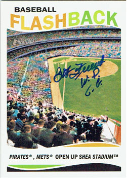 2013 Topps Heritage Baseball Flashback card signed by Bob Friend (from my collection)