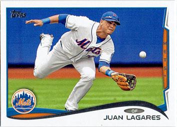 Juan Lagares' 2014 Topps Series 1 baseball card