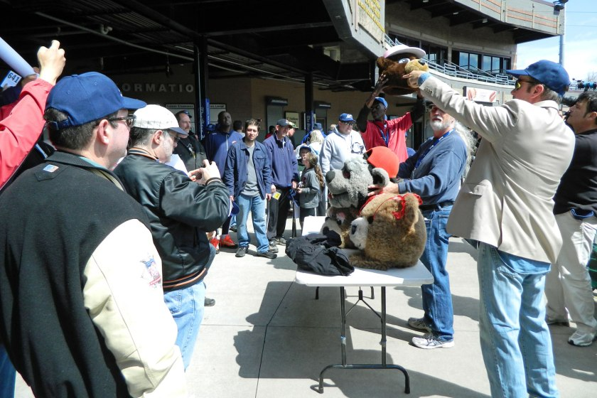 Almost everything was for sale at the Newark Bears' liquidation auction on April 26, from uniforms and mascot costume pieces to office equipment. (Photo credit: Paul Hadsall)