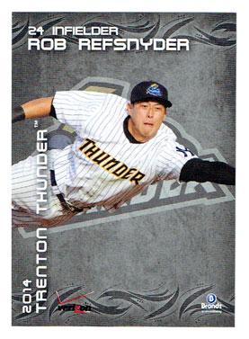 Rob Refsnyder's 2014 Trenton Thunder baseball card