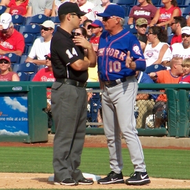 Terry Collins argues a call (Photo credit: Paul Hadsall)