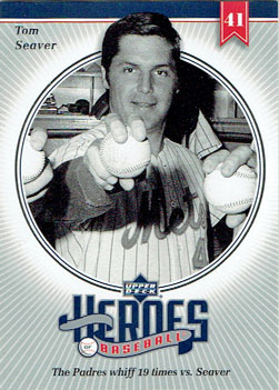 2002 Upper Deck Heroes of Baseball Tom Seaver insert card