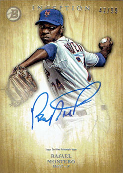 Signed Rafael Montero 2014 Bowman Inception baseball card (from my collection)