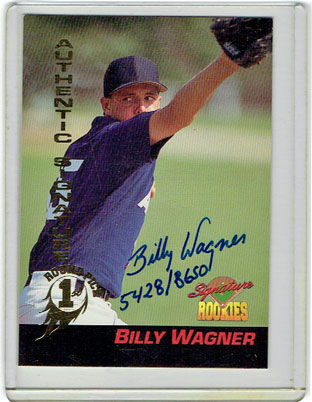 Autographed 1994 Signature Rookies Billy Wagner card