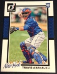 Travis d'Arnaud's 2014 Donruss Series 2 baseball card
