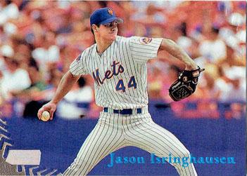 Jason Isringhausen's 1998 Topps Stadium Club baseball card