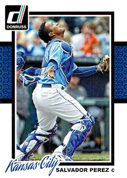 Salvador Perez's 2014 Donruss baseball card