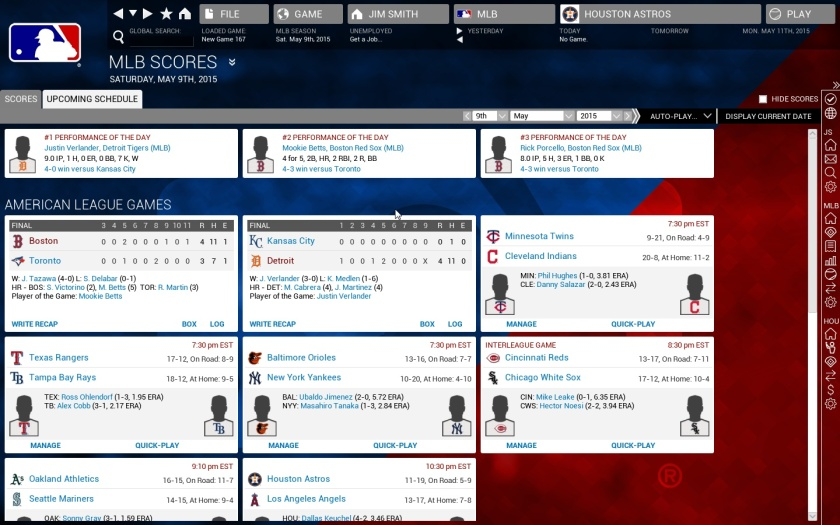 Screenshot from OOTP 16 (image courtesy of Out of the Park Developments)