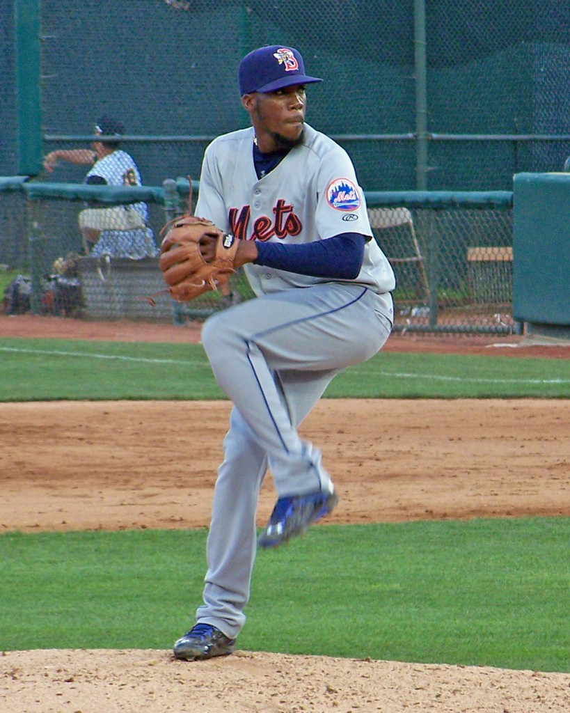 Binghamton Mets pitcher Akeel Morris (Photo credit: Paul Hadsall)