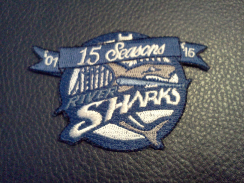 The Camden Riversharks are celebrating their 15th season in 2015... I picked up this souvenir patch for my friend Greg. (Photo credit: Paul Hadsall)