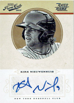 This 2012 Panini Prime Cuts Kirk Nieuwenhuis baseball card is a recent addition to my collection.
