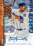 "Juan Lagares 2015 Topps ""Career High"" autograph card from my collection"