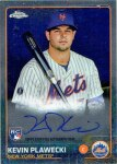 Kevin Plawecki 2015 Topps Chrome autograph card from my collection