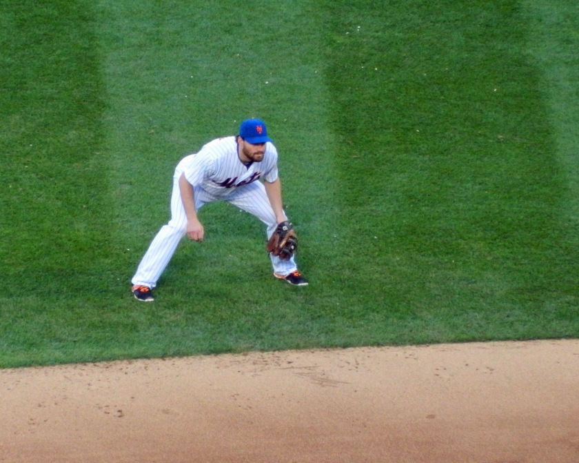 Daniel Murphy plays in what was likely his final regular season game with the Mets on Sunday, Oct. 4, 2015. (Photo credit: Paul Hadsall)