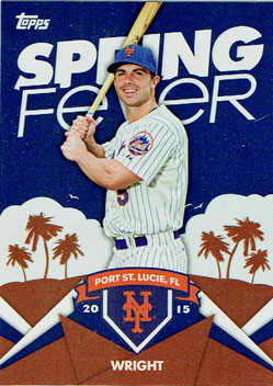 David Wright's 2015 Topps Spring Fever baseball card