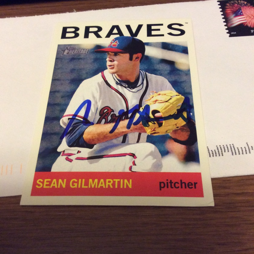 Signed Sean Gilmartin 2014 Topps Heritage Minor League baseball card from my collection